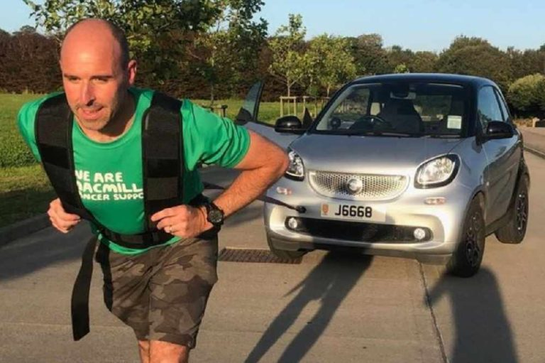 Pete Gears Up For Marathon Car Pull