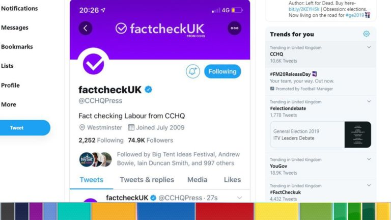 Tories criticised for 'misleading' public with Twitter 'Fact Check' name change